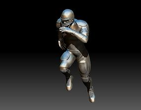 American footballer Pose rendering 3D printable model
