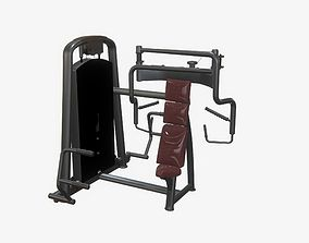 3D Highly detailed Chest Press Med Gym Machine PBR