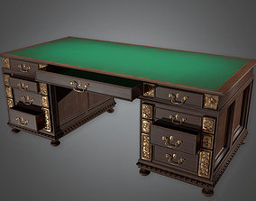3D model Old Green Desk Antiques - ATQ - PBR Game Ready