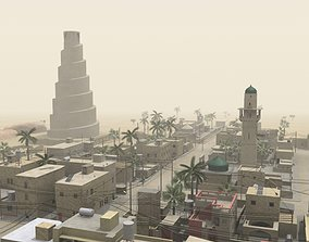 3D Middle Eastern Town
