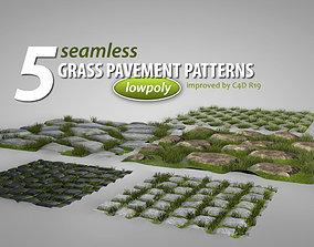 3D asset Seamless Grass Pavement Patterns