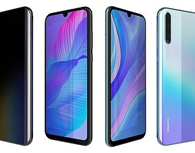 Huawei Y8p Breathing Crystal And Midnight Black 3D