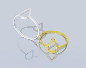 TEARDROP RING 3D model