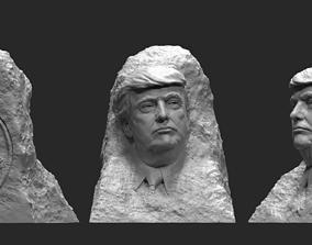 Trump in the rock 1 3D printable model