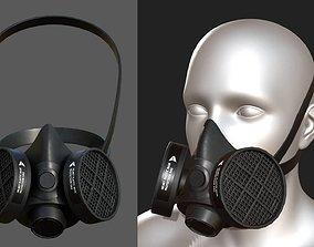 realtime Gas mask helmet 3d protection plastic Black