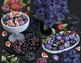 Fruits - Purple 3D model