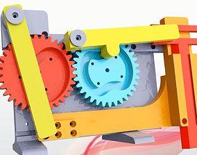 3D print model Gears-Cams-Sliders Hammer Mechanism
