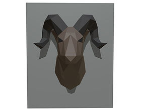 3D printable model ram figure low poly