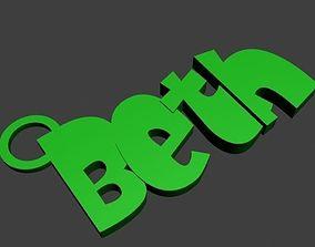 BETH Keyring printable