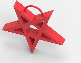 3D print model Pentagram Christmas tree decorations