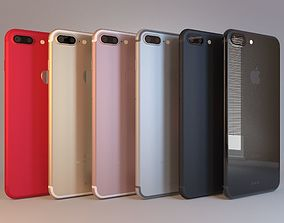 Apple iPhone 7 Plus All 6 Colors 3D