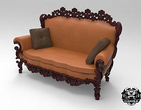 Ornate Carved Sofa 3D asset