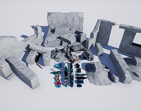 Garbage and Destroyed Buildings PBR 8K 3D asset