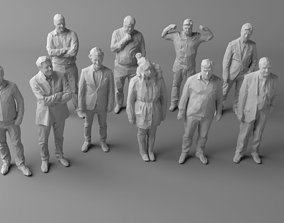 10 Low Poly People Pack Volume 3 3D model VR / AR ready