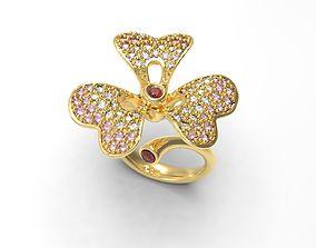 3D printable model Clover Flower ring