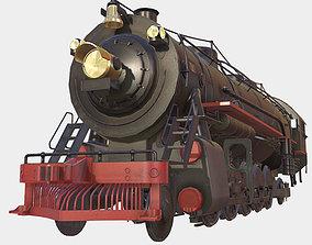 3D model Low poly PBR Steam Train