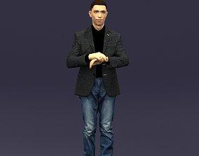 3dprint Refined black jacket man 0421 3D Print ready