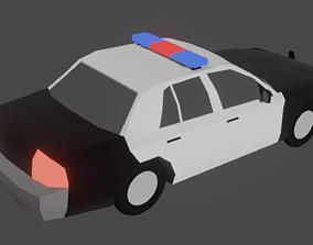 Police car 3D model animated