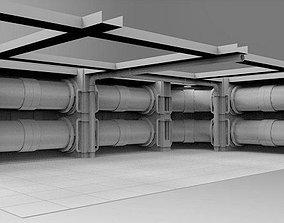 Facility interior modular 3D asset