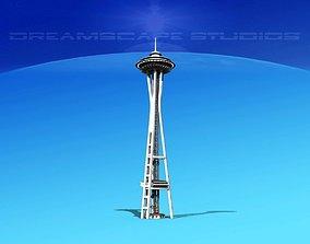 Seattle Space Needle 3D model