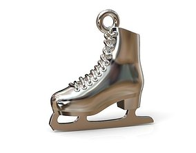 Jewelry pendant figure skate 3D print model