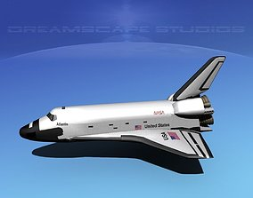 3D STS Shuttle Atlantis Basic LP 1-1