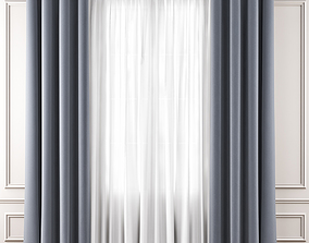 Curtains 3D model low-poly