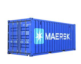 3D model Container Dry Van 20