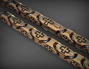 Stylish bracelet or necklace 02 3D printable model