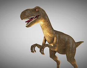 3D model low-poly Dinosaur Rigged