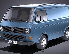 Volkswagen T3 Van 1979 - 1988 VRAY 3D model