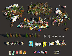 3D model Garbage set