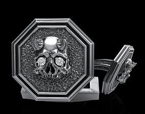 luxury 3D printable model skull cufflinks