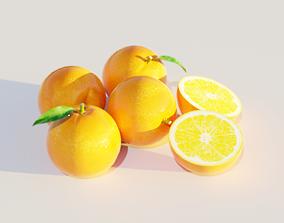 3D model leaf orange