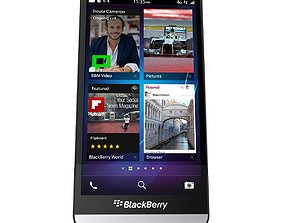 3D model BlackBerry Z30 cellular