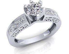 jewel Fancy Solitaire Diamond Ring 3d Model print