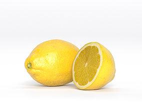 3D asset Lemon Fruit Photoscan