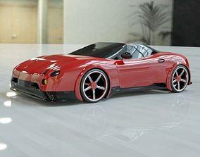 Red sports car concept 3D print model