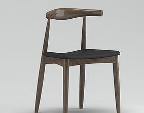 Black And Dark Brown Chair 3D