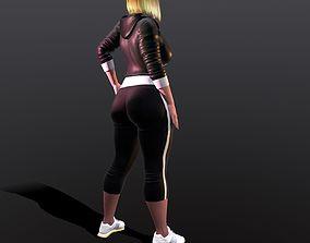 hot gym girl 3D model