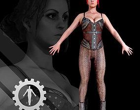 3D Female Scan Sonya game-ready