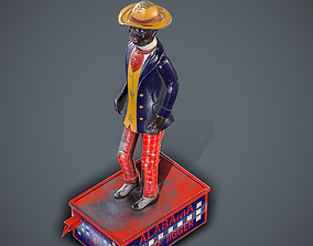 3D model VR / AR ready Alabama Coon Jigger