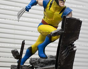 mutant Wolverine X-men Fan Art Statue 3d Printable