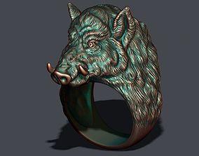 3D print model Wild boar ring