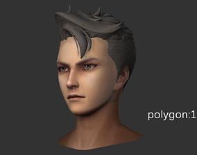 man hair style 02 3D asset