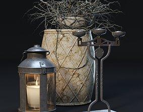 candle Decorative Set 3D