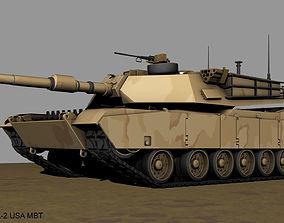 m1a2 3D model Abrams M-1 A-2 USA MBT