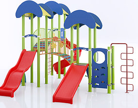 2 kids child playground 3d model