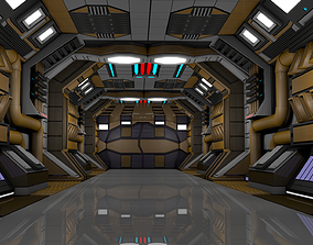 Sci Fi Corridor scene 3D model