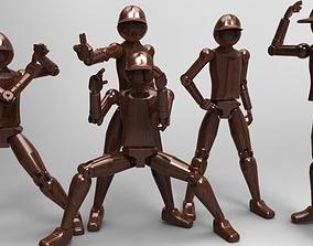 poseable figure 3D printable model